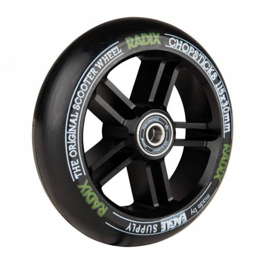 2 X Chopsticks Scooter Wheel Radix x Revenger (Black/Black) 115 x 30 - Riteņi