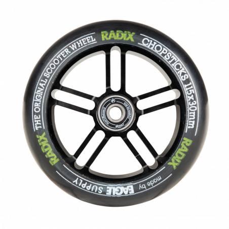 2 X Chopsticks Scooter Wheel Radix x Revenger (Black/Black) 115 x 30 - Riteņi