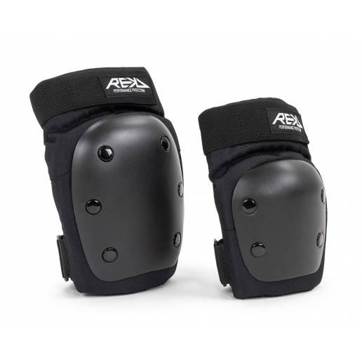 REKD Youth Heavy duty double padset Black/Black M - Aizsargi