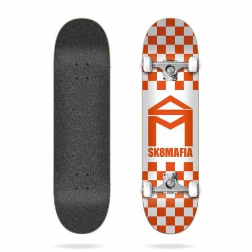 Sk8mafia House Logo Checker Orange 8.0″ riedlentė - Skeitbordi
