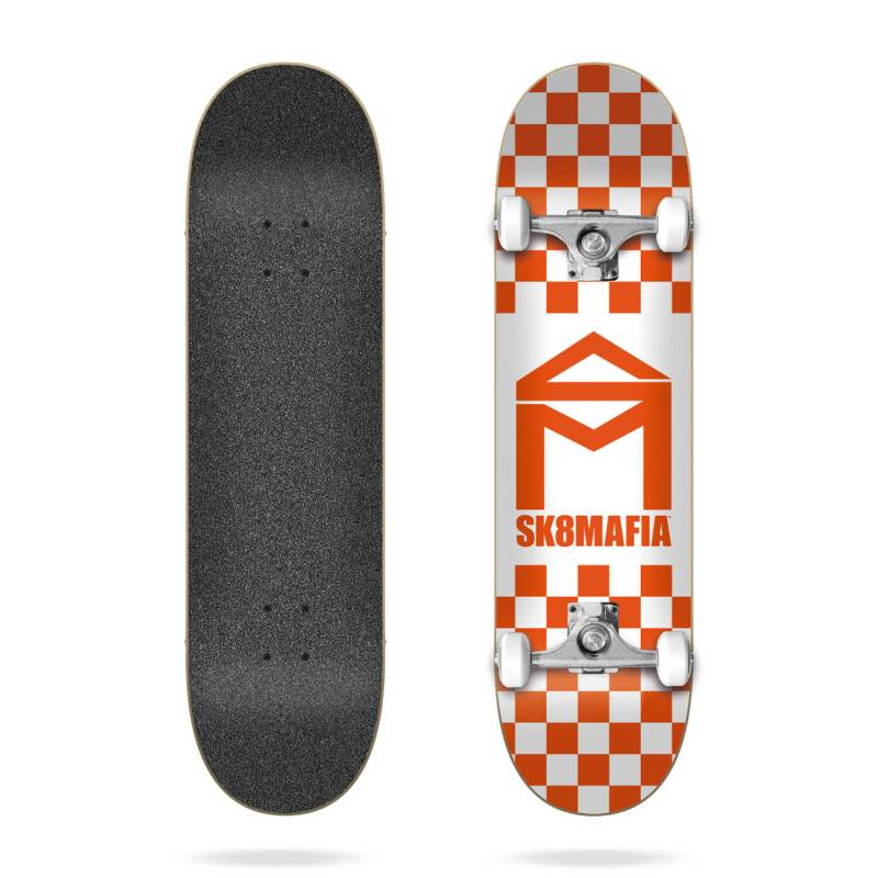 Sk8mafia House Logo Checker Orange 8.0″ riedlentė nuo SK8MAFIA skateboards