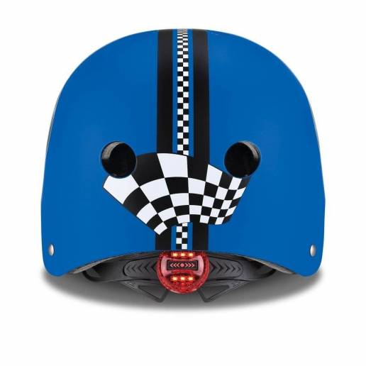 Vaikiškas šalmas Globber Elite Lights XS / S Navy Blue Racing 2021 nuo Globber