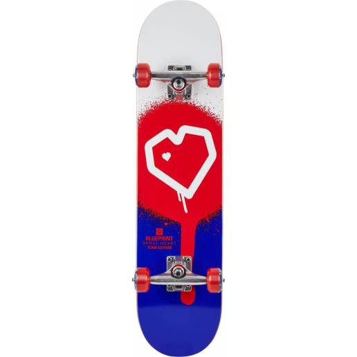 "Riedlentė Blueprint Spray Heart V2 Blue Red 8.0"" nuo Blueprint"