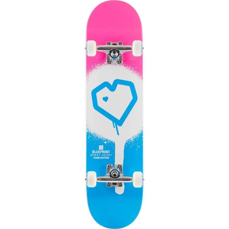 "Riedlentė Blueprint Spray Heart V2 Pink Blue 7.75"" nuo Blueprint"