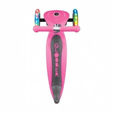 Globber Primo Foldable Lights / Deep pink - Skrejriteņi ar trīs riteņiem