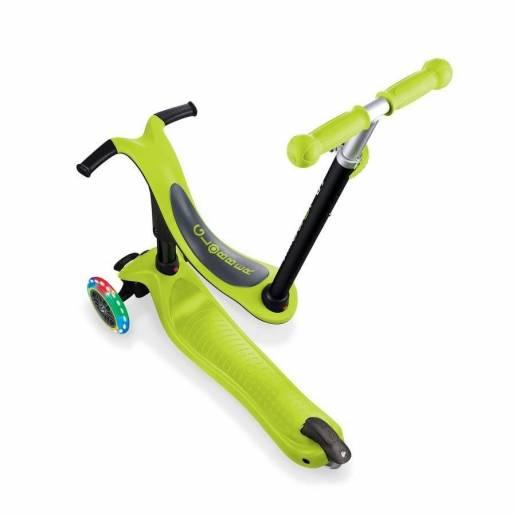 Globber GO-UP Sporty Lights / Lime Green 2021 - Skrejriteņi ar trīs riteņiem