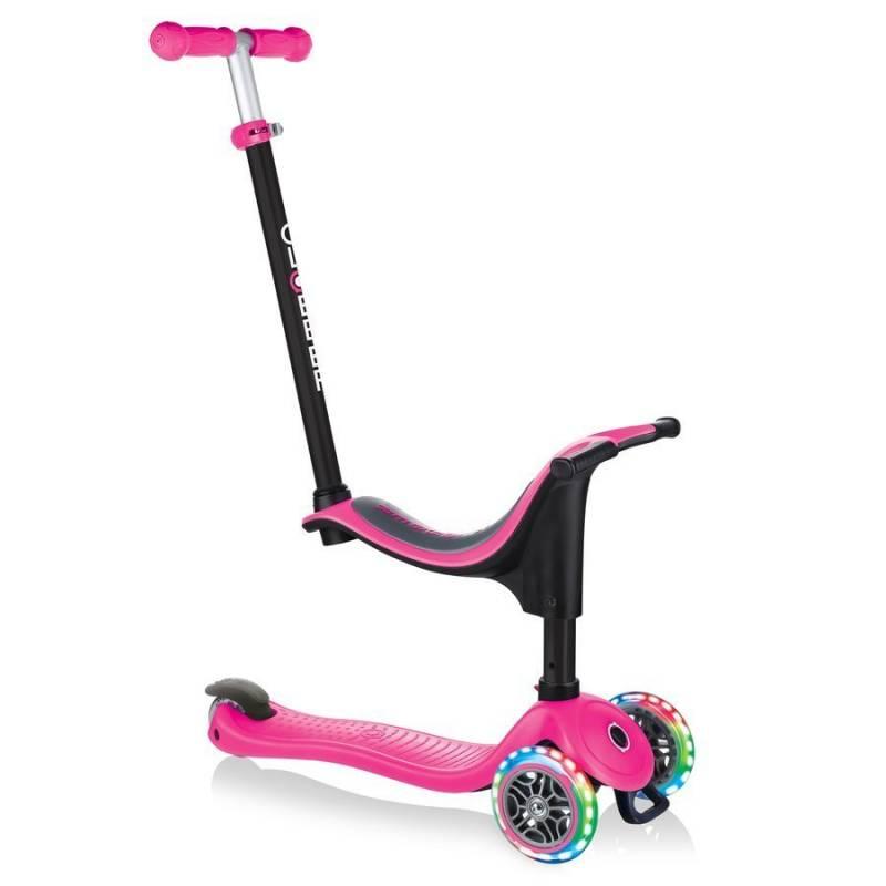 Globber GO-UP Sporty Lights / Deep pink 2021 nuo Globber
