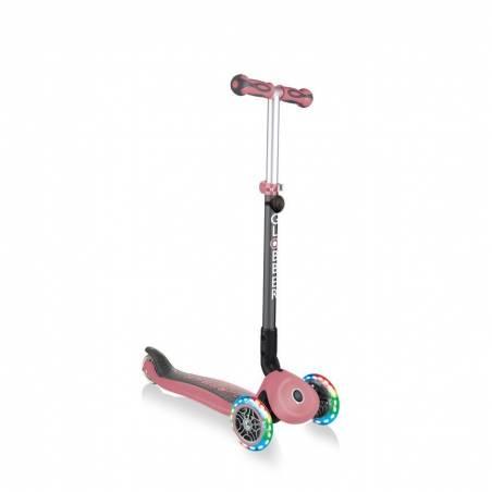 Globber GO-UP Deluxe Lights / Pastel Pink (5 in 1) 2021 - Skrejriteņi ar trīs riteņiem