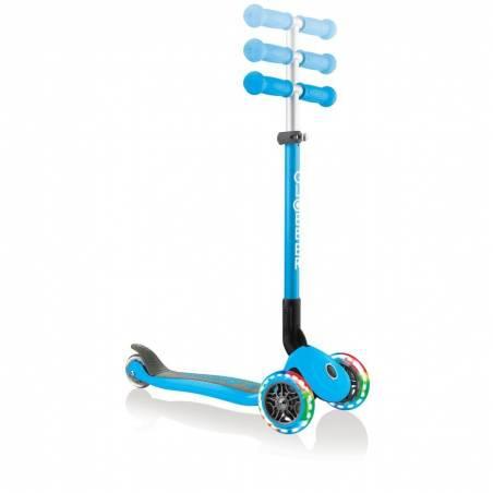 Globber Primo Foldable lights / Sky Blue - Skrejriteņi ar trīs riteņiem