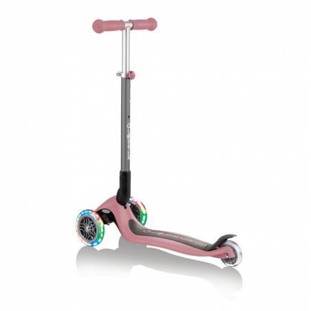 Globber Primo Foldable lights / Pastel Pink - Skrejriteņi ar trīs riteņiem