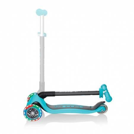 Globber Primo Foldable lights / Teal - Skrejriteņi ar trīs riteņiem