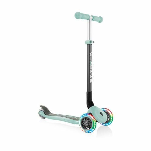 Globber Primo Foldable lights / Mint - Skrejriteņi ar trīs riteņiem