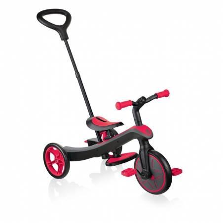 Paspirtukas - triratukas Globber Explorer Trike New Red (4 in 1) nuo Globber