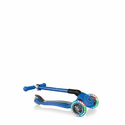 Paspirtukas Globber Primo Foldable Lights / Navy Blue Racing nuo Globber