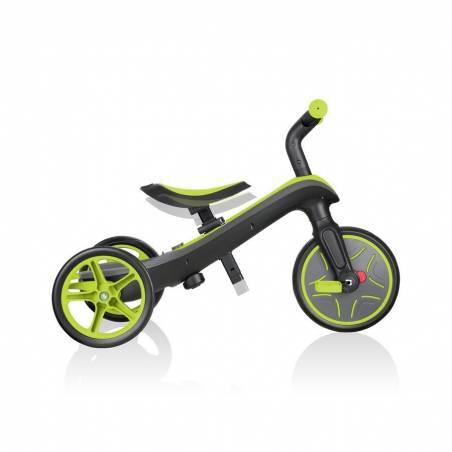 Globber Explorer Trike Lime Green (4 in 1) - Līdzsvara velosipēdi