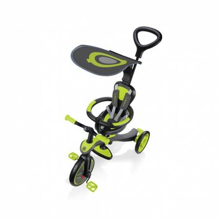 Paspirtukas - triratukas Globber Explorer Trike Lime Green (4 in 1) nuo Globber