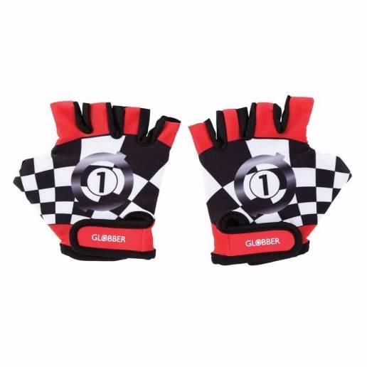 Globber Dviratininko pirštinės XS New Red Racing nuo Globber