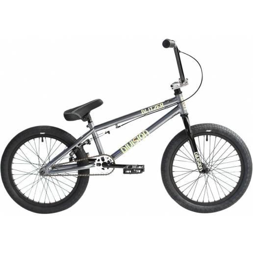"BMX dviratis Division Blitzer 18"" 2021 Metal Grey/Polished nuo Division"