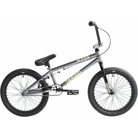 "BMX dviratis Division Blitzer 18"" 2021 Metal Grey/Polished - Freestyle BMX"