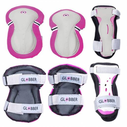 Globber kelių, alkūnių ir riešų apsaugų rinkinys XXS (Pink) nuo Globber