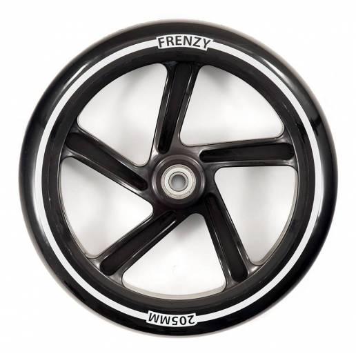 Paspirtuko ratas Frenzy 205 mm black su guoliais nuo Frenzy