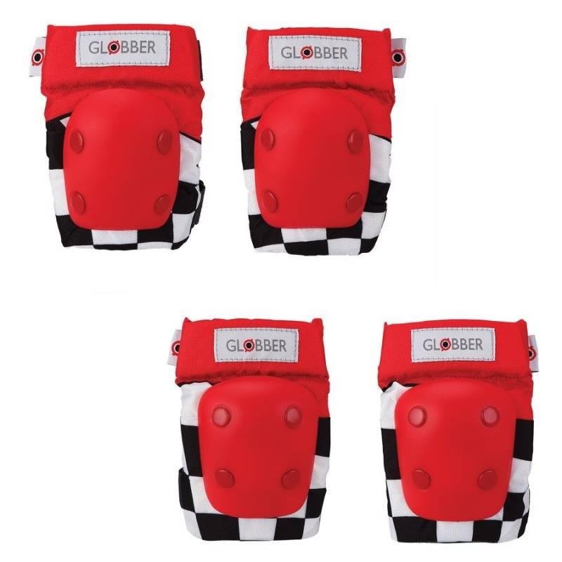 Globber kelių ir alkūnių apsaugų rinkinys XXS (Racing Red) nuo Globber