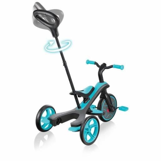 Paspirtukas - triratukas Globber Explorer Trike Teal (4 in 1) nuo Globber
