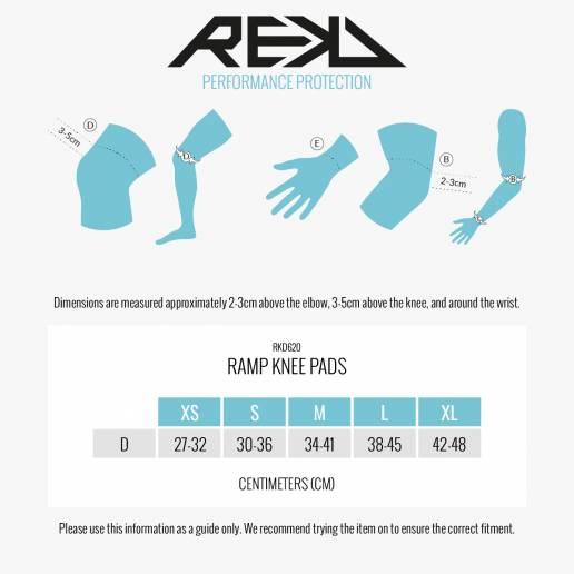 Kelių apsaugos REKD Ramp Knee Pads Black/Black XS nuo REKD