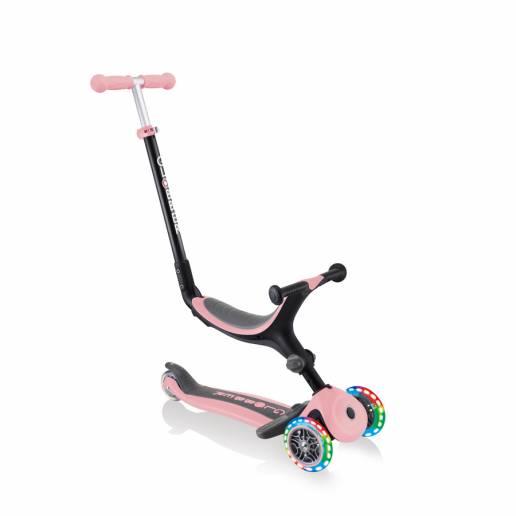 Globber GO-UP Foldable Plus Lights / Deep Pastel Pink nuo Globber
