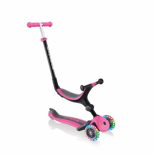 Globber GO-UP Foldable Plus Lights / Deep Pink nuo Globber