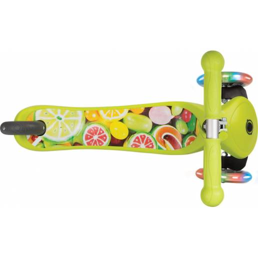 Globber PRIMO / Lime Green - Skrejriteņi ar trīs riteņiem
