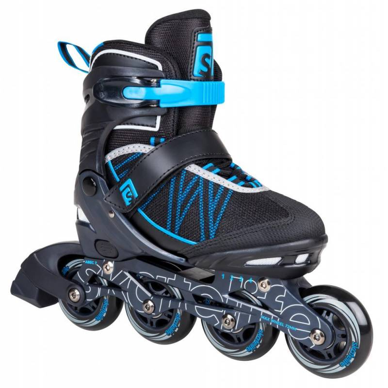Riedučiai Skatelife Lava Adjustable Black Blue 31-34