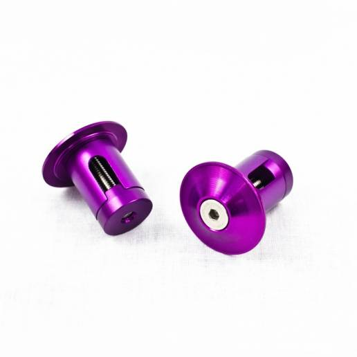 Grit Alloy Bar Ends - Anodized Purple - Stūres