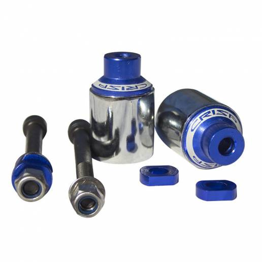 Crisp Scooters Sleeved Pegs - Blue / Polished