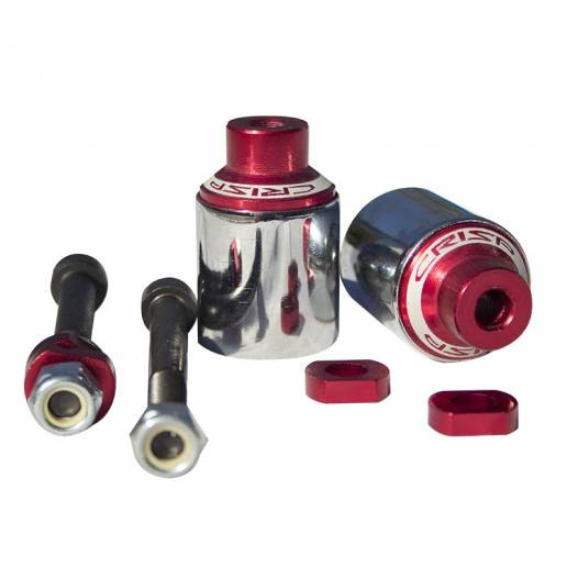 Crisp Scooters Sleeved Pegs - Red / Polished