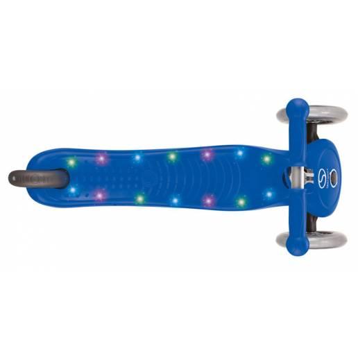 Vaikiškas paspirtukas Globber PRIMO STARLIGHT navyblue su LED platforma