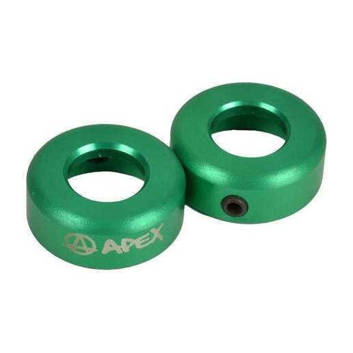 Apex Bar Ends Alloy (Green) - Stūres