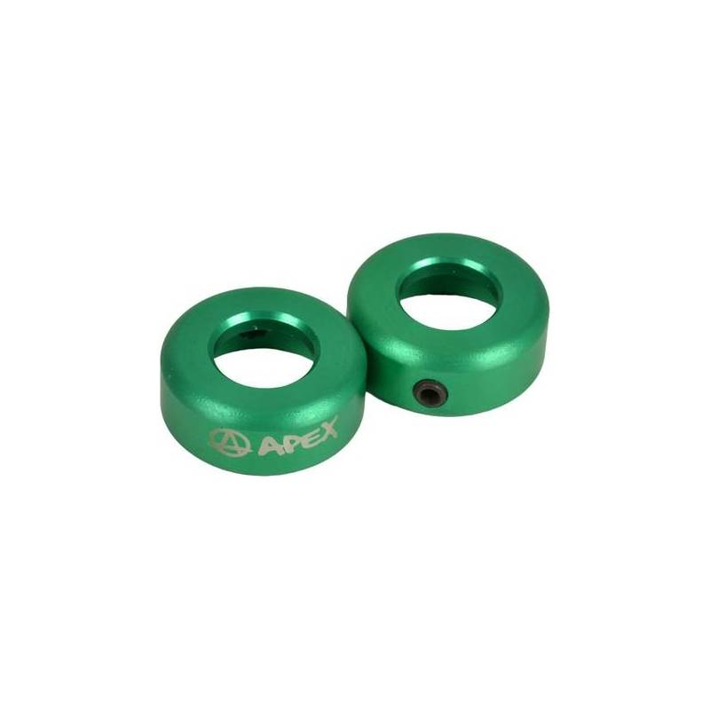 Apex Bar Ends Alloy (Green) nuo Apex