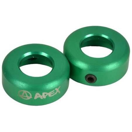 Apex Bar Ends Alloy (Green) - Stūres