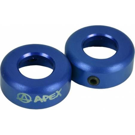 Apex Bar Ends Alloy (Blue) - Stūres