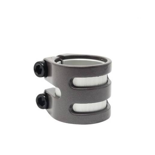 District Scooters Double Light Clamp - Titanium Grey - Stūres savilcēji (Clamps)