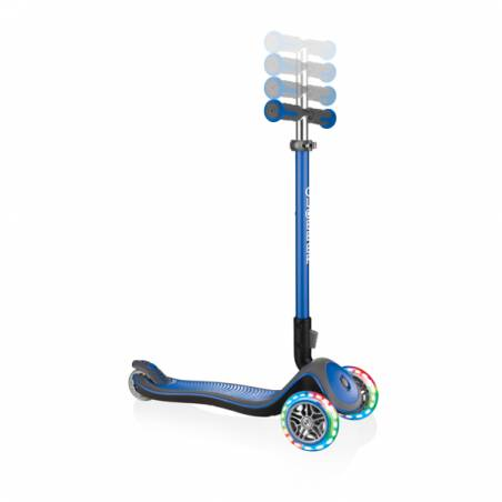 Triratukas su LED ratukais Globber Elite Deluxe / Navy blue nuo Globber