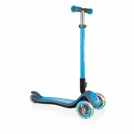 Globber Elite Deluxe / Sky blue - Skrejriteņi ar trīs riteņiem