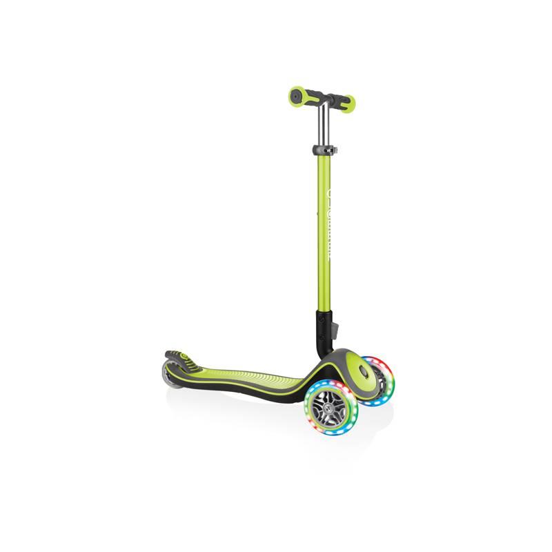 Globber Elite Deluxe / Lime green - Skrejriteņi ar trīs riteņiem