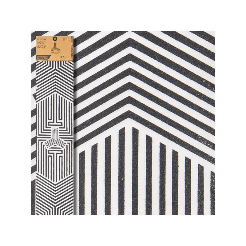 Skaidrus švitrinis popierius Triad Oath Logo Black clear - Smilšpapīri