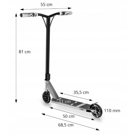 Movino X-CORE Black 110 - Triku skrejriteņi