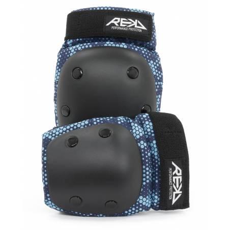 Kelių ir alkūnių apsaugos REKD Youth Heavy duty Black/Blue S nuo REKD