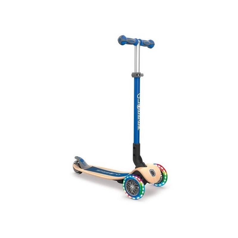 Globber Primo Foldable Wood Lights / Navy Blue - Skrejriteņi ar trīs riteņiem