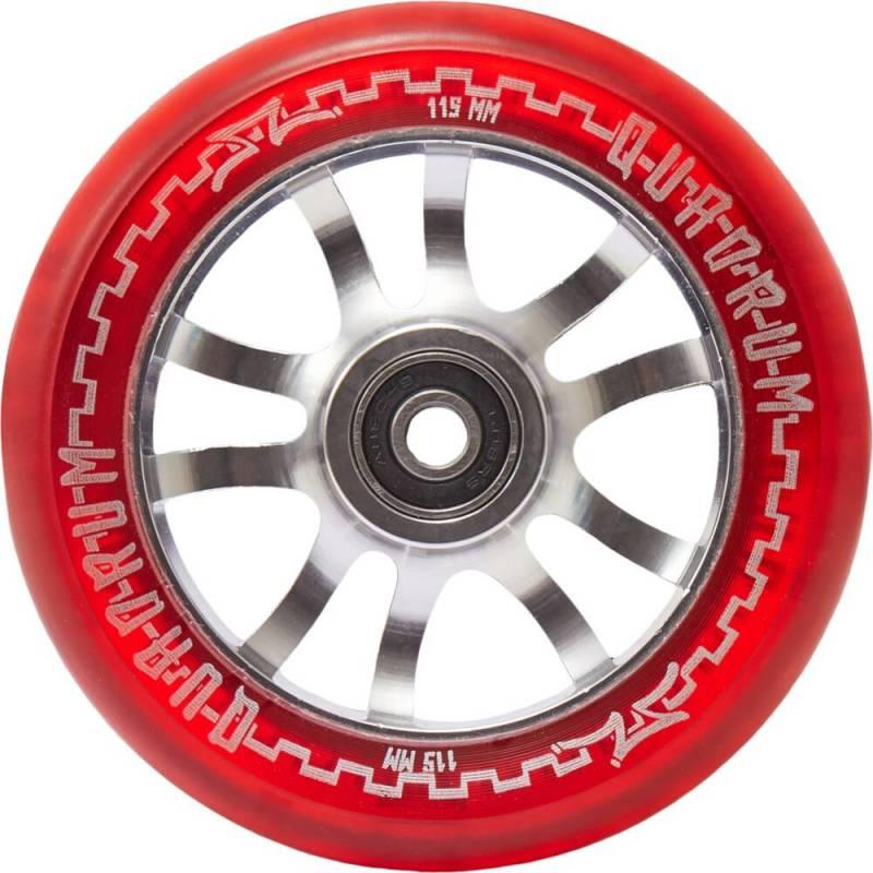 2 X AO Quadrum Transparent Red 115 mm - Riteņi