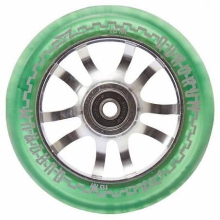 2 X AO Quadrum Transparent Green 115 mm - Riteņi